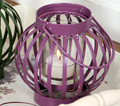 Purple Candle Lantern