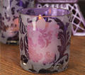 Purple Damask Holders