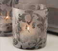 Charcoal Damask Holders