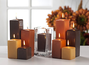 Fall Wedding Candle Colors
